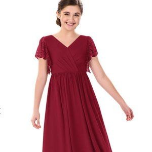 AZAZIE ZELLA JBD Junior Bridesmaid Dress 10 Burgun